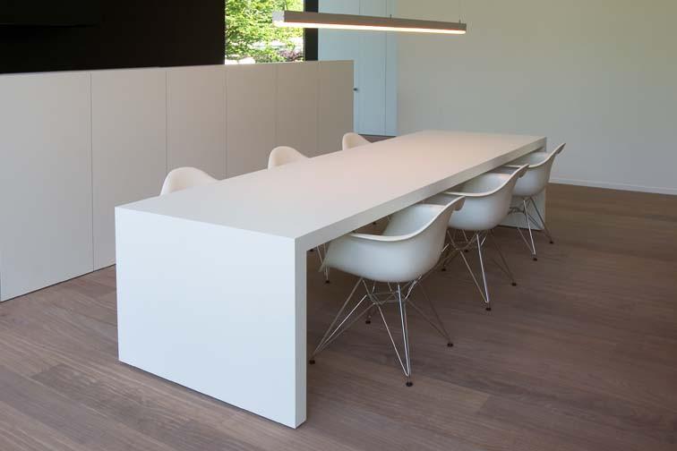 Strakke Witte Eettafel.Witte Moderne Tafel Rsvhoekpolder
