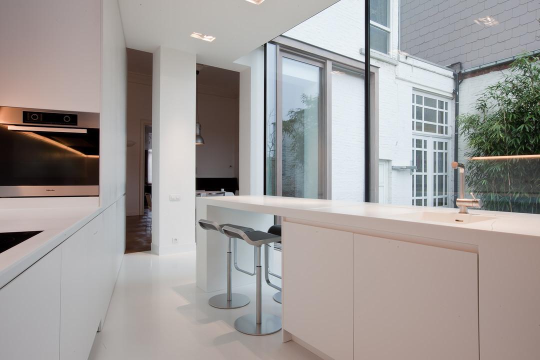 Witte Laminaat Keuken : Keukens interieur woonproject aalter